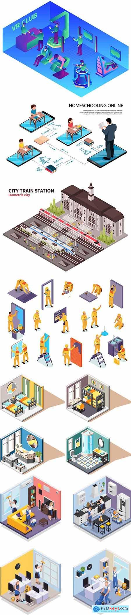 Flat isometric vector 3D concept illustration # 48