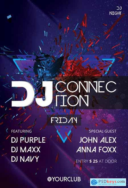 DJ Connection - Premium flyer psd template