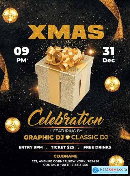 Celebration XMAS - Premium flyer psd template