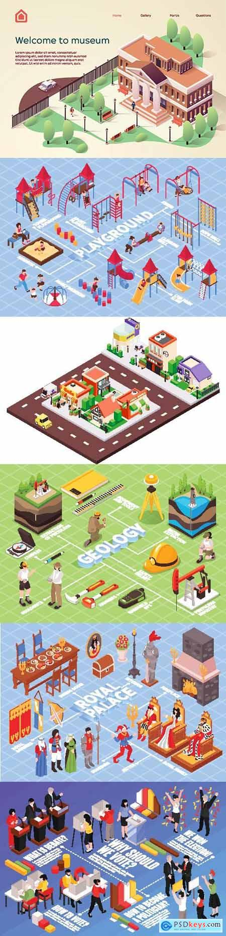 Flat isometric vector 3D concept illustration # 49