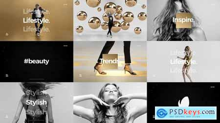 VideoHive Short Fashion Stomp Fast Clean Opener Dynamic Typography Youtube Channel 24868336
