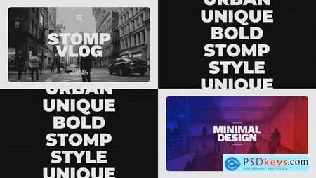 VideoHive Stomp Vlog Opener 23494633