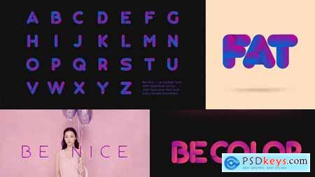 VideoHive Be Nice Stretchy Font 23796297