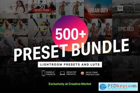 500+ Lightroom Presets & LUTs Bundle 4282364