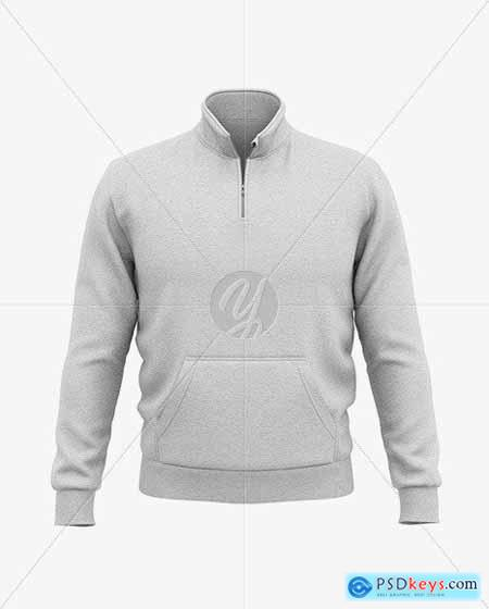 Heather Three Quarter Zipped Sweatshirt 51606