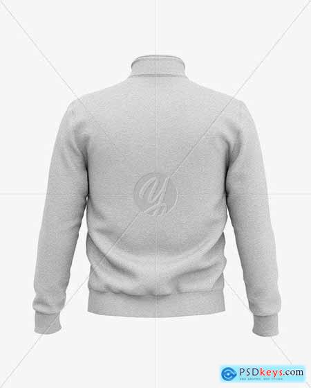 Heather Three Quarter Zipped Sweatshirt 51608