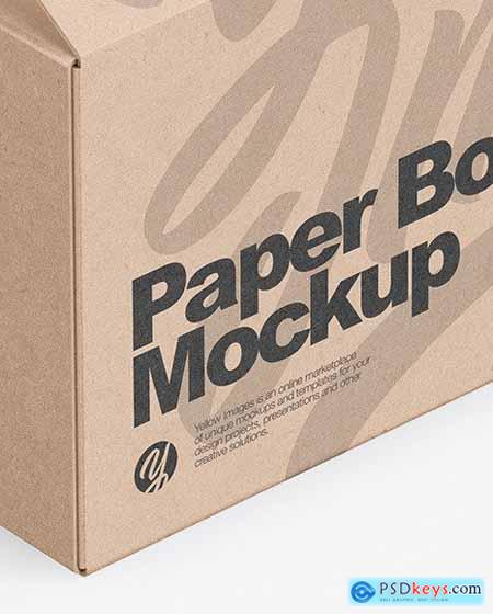 Opened Kraft Box Mockup 51600