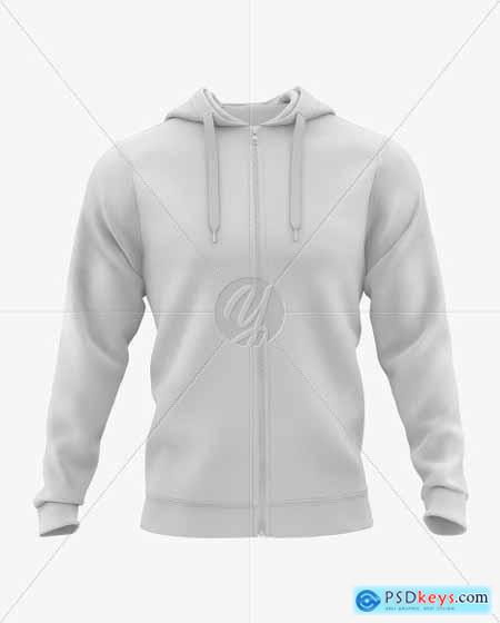 Mens Hooded Sweatshirt Mockup 51605