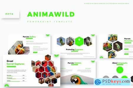 Animawild - Powerpoint Google Slides and Keynote Templates