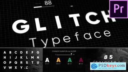Videohive Glitch Animated Typeface 22846308