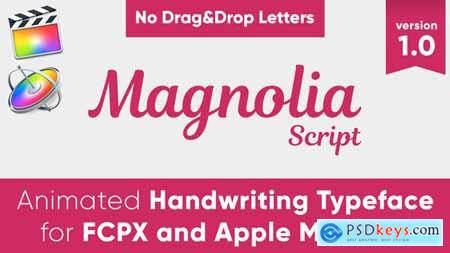 Videohive Magnolia Animated Typeface for FCPX and Motion 5 24101592