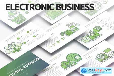 Electronic Business-PowerPoint Infographics Slides