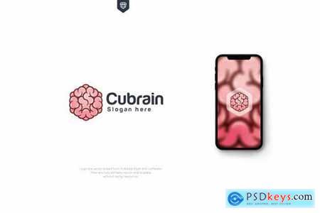 Hexagon - Cubic Brain Logo