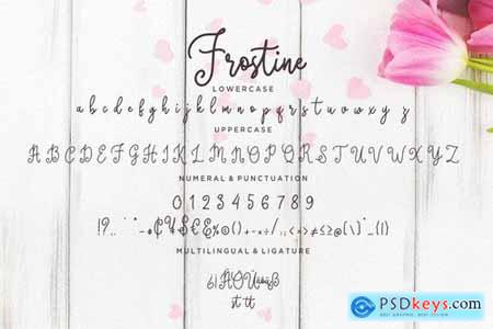 Frostine Curly Monoline Typeface