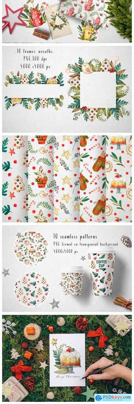 Sweet Christmas Watercolor Set 1996805