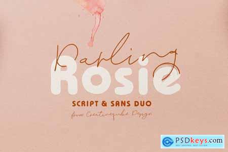 Darling Rosie Font Duo + Watercolor 4113237