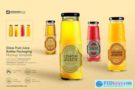Fruit Juice Glass Container Mockup 4138030