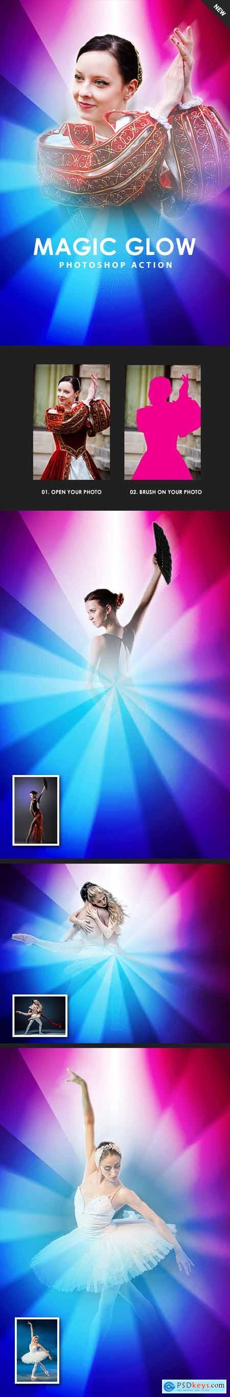 Magic Glow Photoshop Action 24671976
