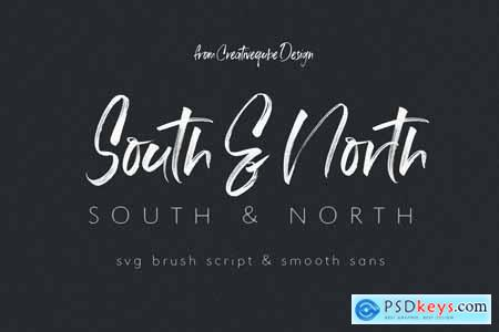 South & North SVG Font Duo 4160681