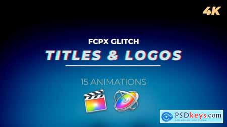 Videohive FCPX Glitch Titles and Logos 22773308