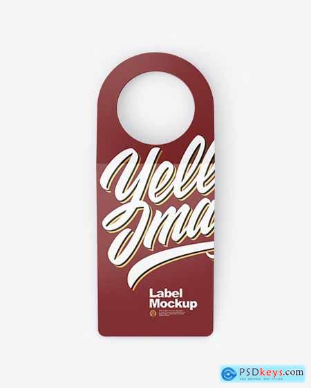 Bottle Tag Mockup - Front View 51583