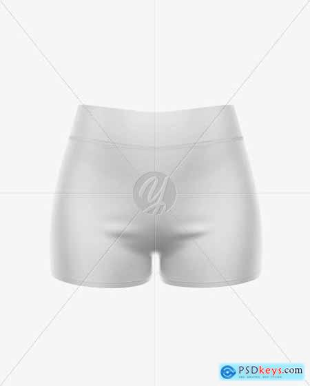 Womens Sport Shorts Mockup - Front View 51590