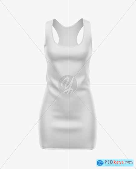 Womens Sport Dress Mockup - Front View 51594