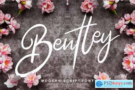 Bentley Modern Script Font