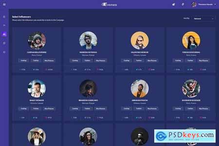 Evonea - Ad Campaign Admin Dashboard UI Kit (XD)