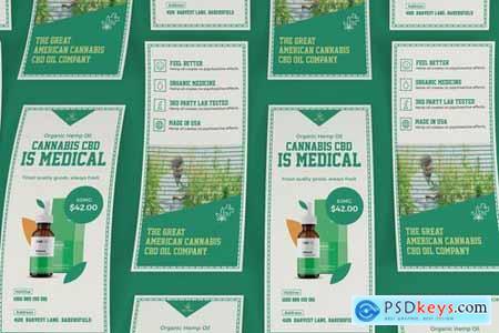 Cannabis Hemp Oil Products DL Rackcard