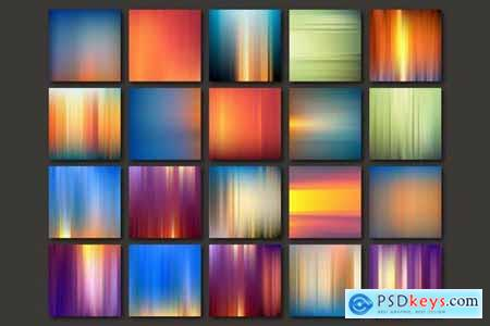 Striped Abstract Backgrounds Set Vector Bundle