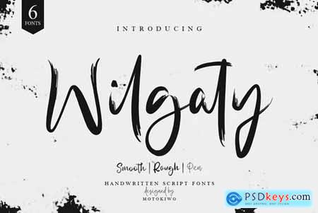 Wilgaty - 3 Stroke Edition (6 Fonts) 2571798