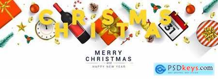 Merry Christmas and Happy New Year greeting cards 2