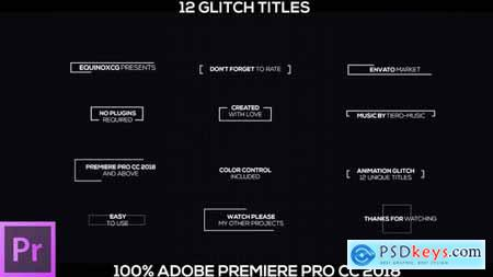 Videohive 12 Glitch Titles 21917935