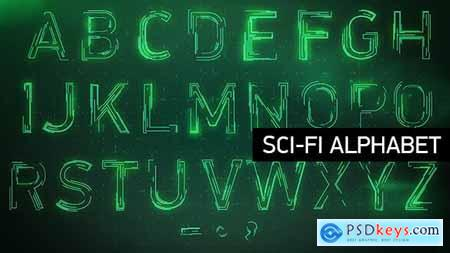 Videohive Animated Sci-fi Alphabet 8406308