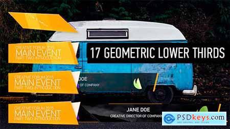 Videohive 17 Geometric Lower Thirds 11088653