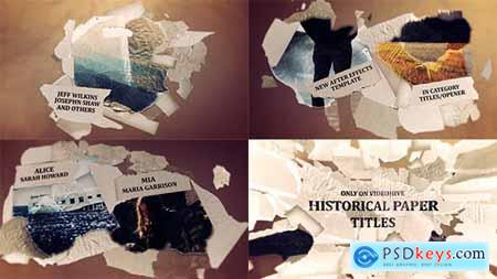 Videohive Historical Paper Titles Opener 11108154