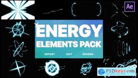 Videohive Cartoon Energy Elements Pack After Effects 25028854