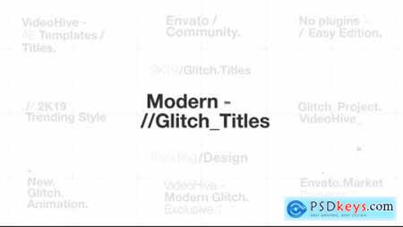 Videohive Modern Glitch Titles 23494883