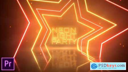 Videohive Neon Light Party Opener Premiere Pro 25045358