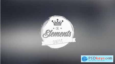 Videohive Oil Paint Elements 12320106