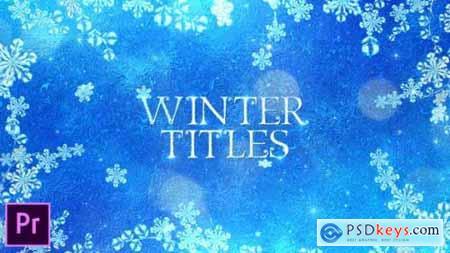 Videohive Winter Titles Premiere Pro 25045449