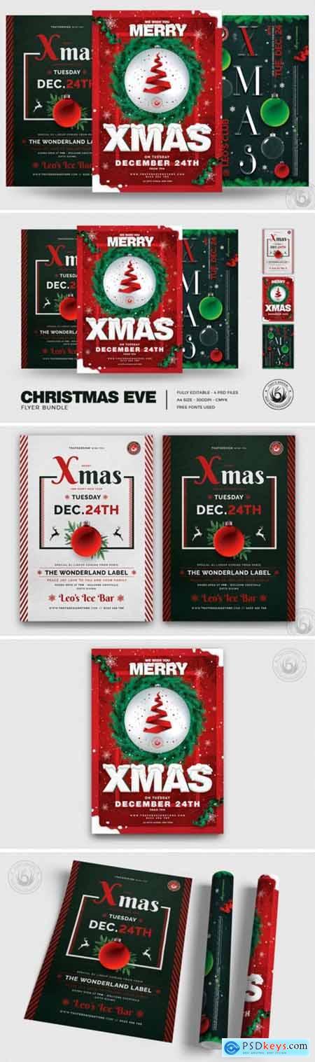 Christmas Eve Flyer Bundle V2 2003298