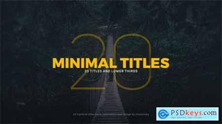 Videohive Minimal Titles 20206702