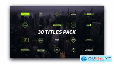 Videohive 30 Titles Pack 21955729