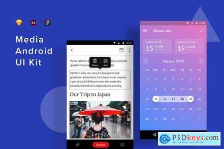 Media Android UI Kit
