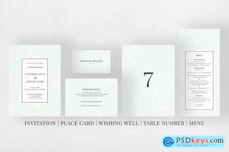 Modern Sketch Invitation Suite