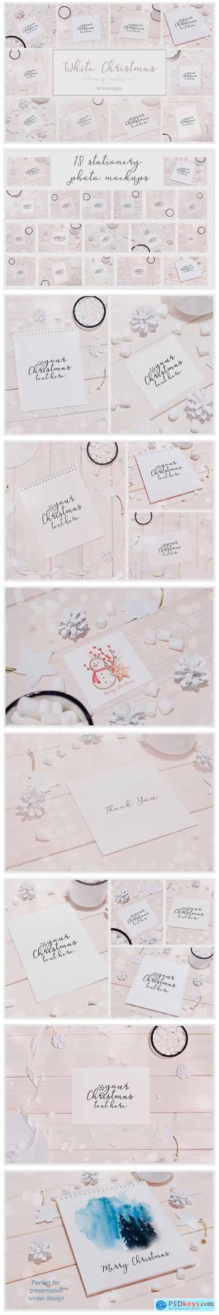 White Christmas 18 Stationery Mockups 2007381