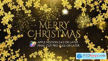 Videohive Golden Christmas Wishes Apple Motion 25049132