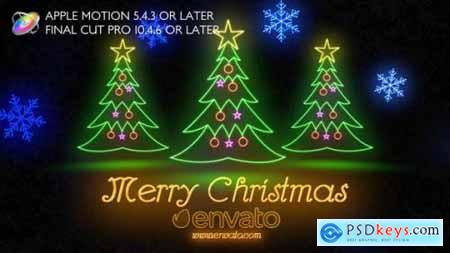 Videohive Neon Light Christmas Apple Motion 25049238